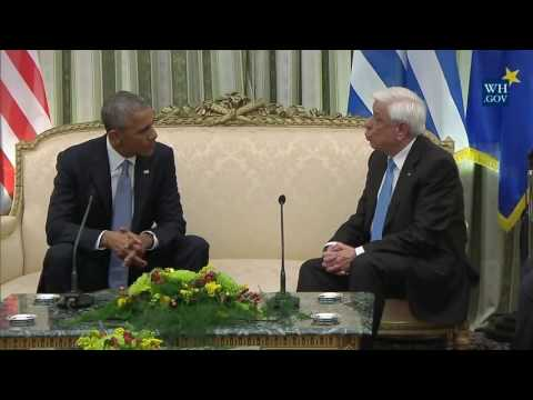 Obama And President Of Greece - Full Event