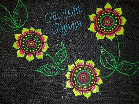 Fabric painting with  3D neon liners | Fun with   Rajanya