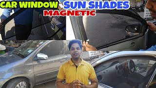 Car Side Window Magnetic Sun Shades with Zipper