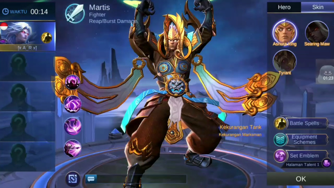 Captivating SCRIPT SKIN MARTIS EPIC GOD OF WAR MOBILE LEGEND