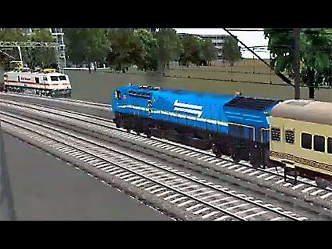 Indian Train Simulator - WDG-4 (Blue) Palace on Wheels - Anand to Ahmedabad