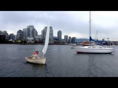 Sailing my new 8 foot Trinka sailing dinghy