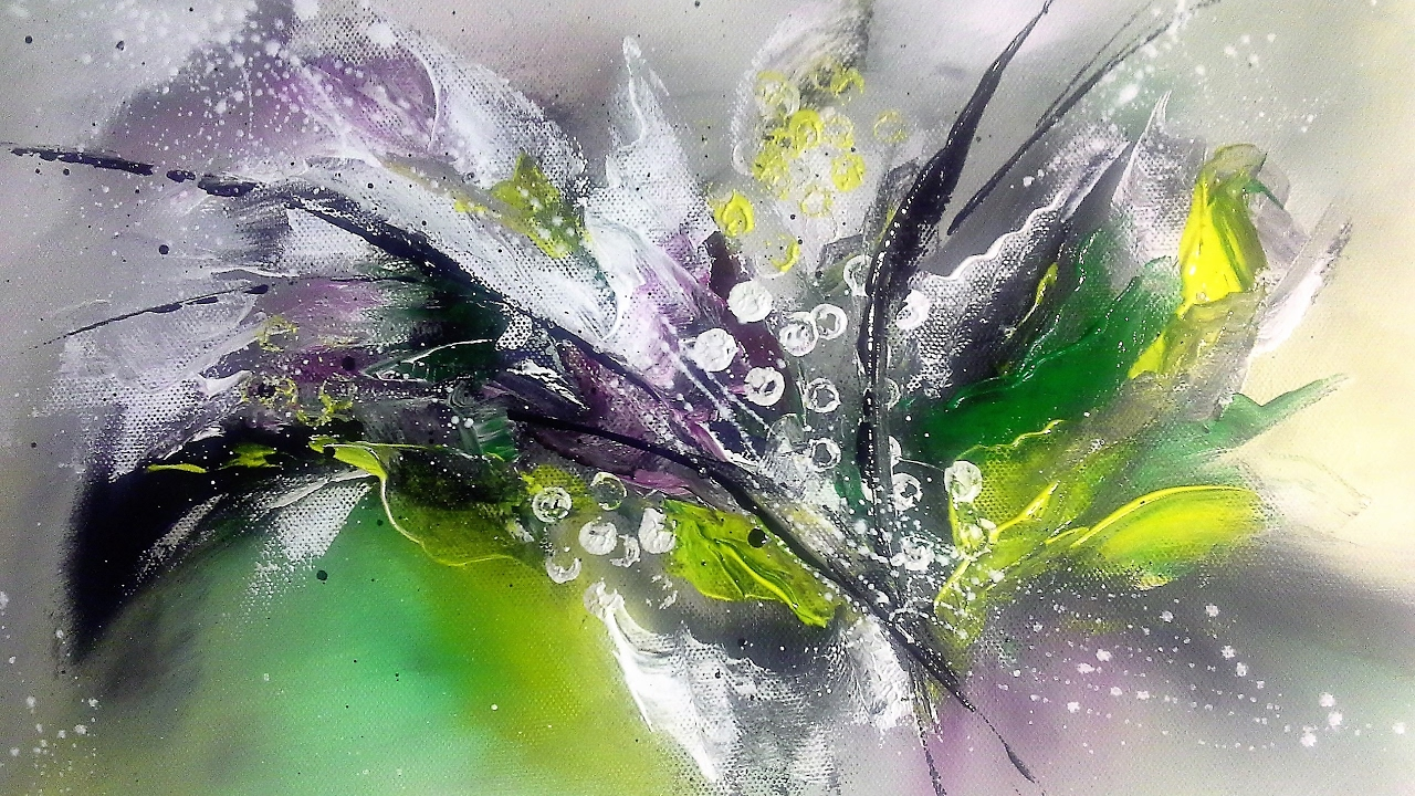 Spring Bouquet Einfach Malen Easy Painting Abstract