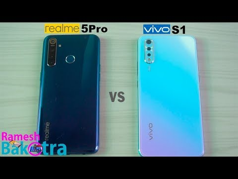 Realme 5 Pro vs Vivo S1 SpeedTest Camera Comparison