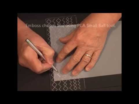 Parchment Craft - PCA Diamond Borders/Corners Template TP3190E Demonstration