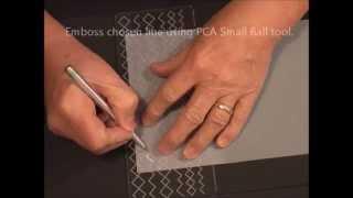 Parchment Craft - PCA Diamond Borders/Corners Template TP3190E Demonstration
