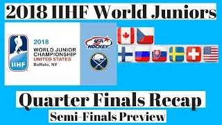 2018 World Juniors QuarterFinals Recap & Semi Final Preview