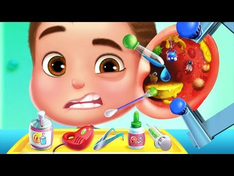 Funny Playing With Ear, Nose And Throat Doctor Tools Game For Kids