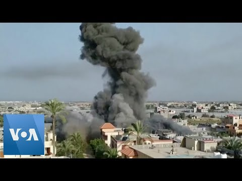 Israeli Air Strike Destroys House in Gaza