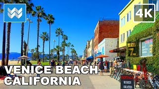 Walking from Venice Beach to Santa Monica Pier in Los Angeles, California 【4K】