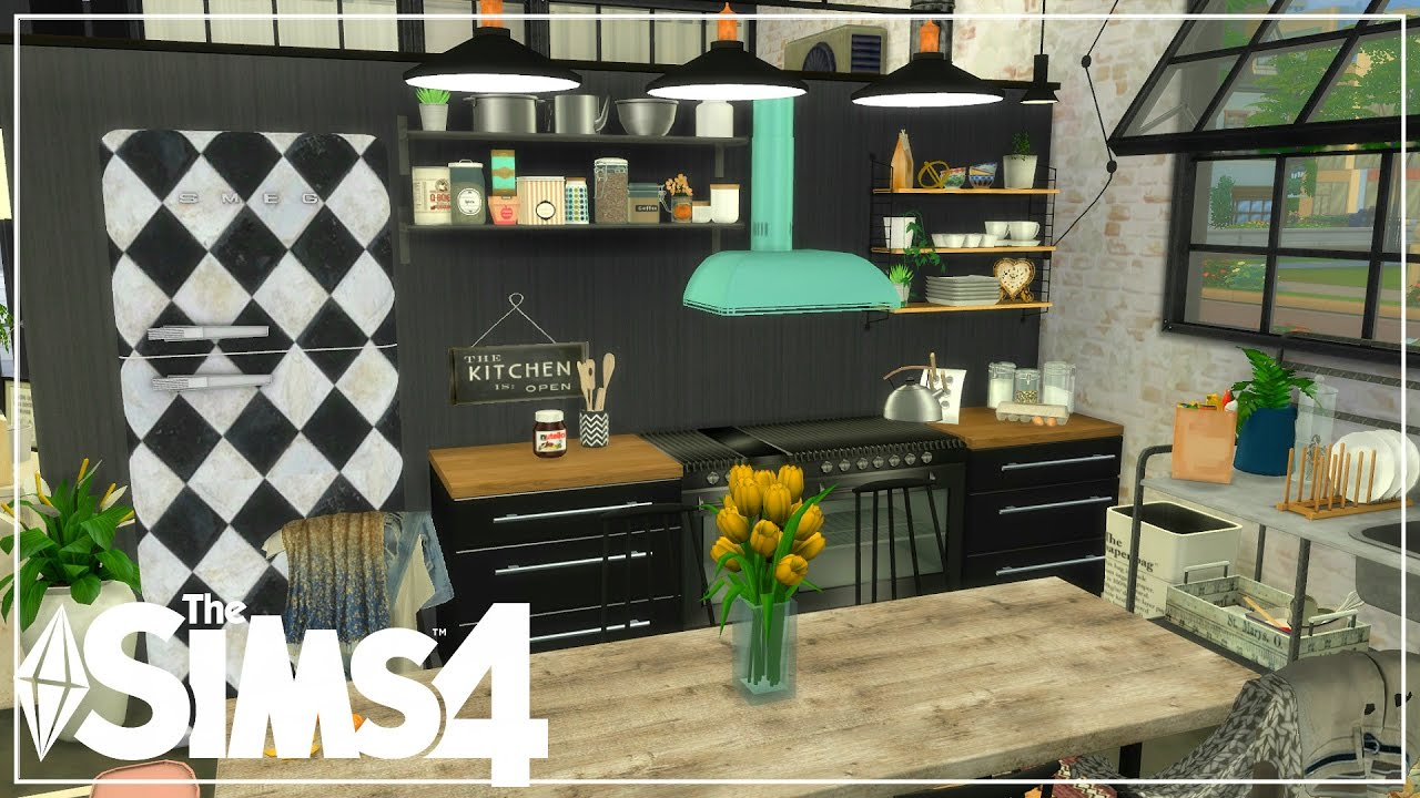 The sims 4 apartment build industrial grunge inspired for Apartment design sims 3
