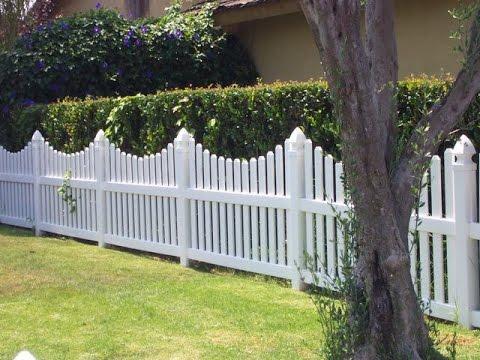 buy vinyl fence looks like wood - YouTube