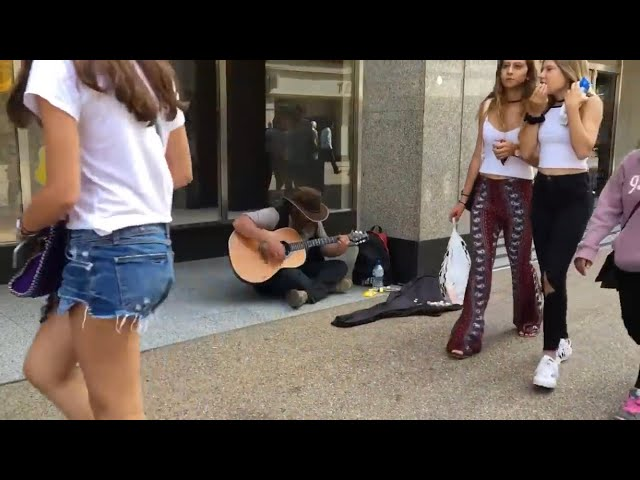 HOMELESS GUY SURPRISES PEOPLE & STUNS CROWD!