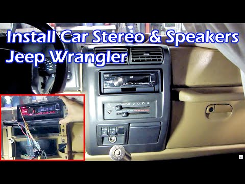 how to install aftermarket car stereo and speakers jeep. Black Bedroom Furniture Sets. Home Design Ideas
