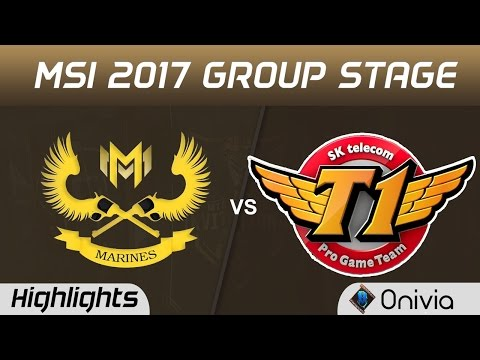 GAM vs SKT Highlights MSI 2017 Group Gigabyte Marines vs SK Telecom T1 by Onivia