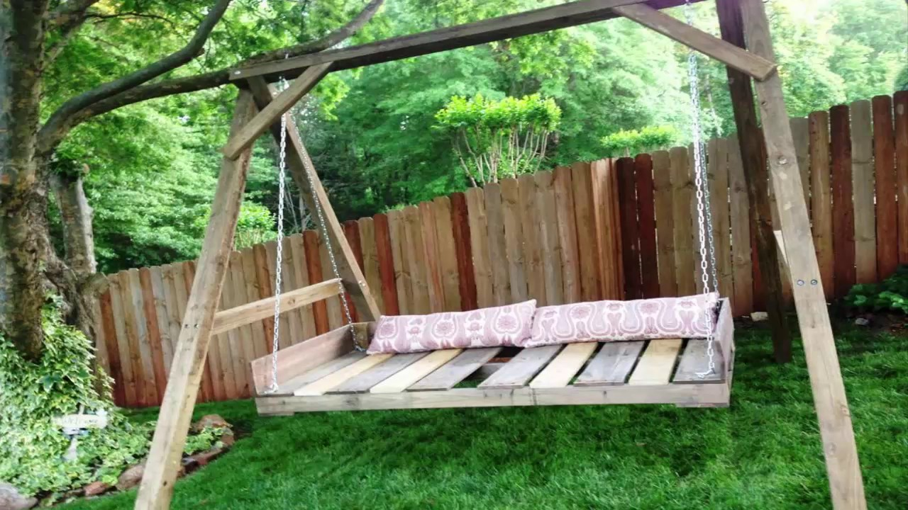 Pallet Swing Bed With Back