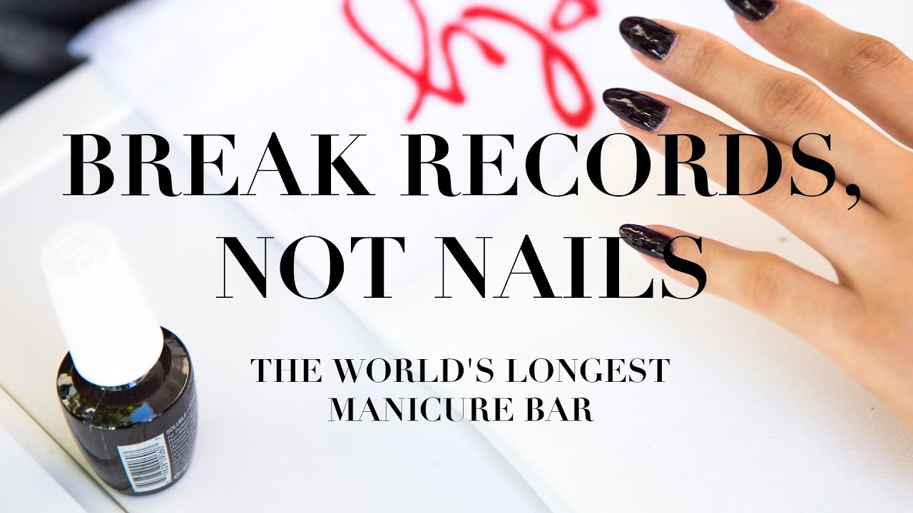 Video:Break Records, Not Nails | #OPIWorldRecord