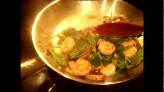 Healthy Mushroom, Spinach, Shrimp And Pasta Dish & Quick Weight In