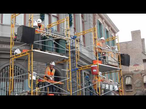 Construction Workers Playing Music