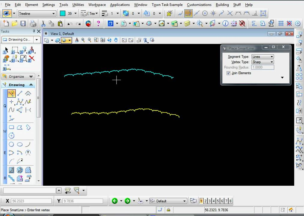 Drawing Lines In Microstation : Bentley microstation v i how to create an element