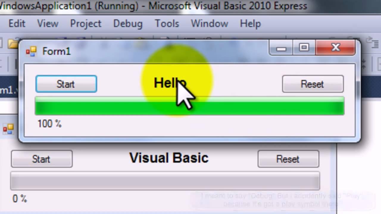 [HD] Visual Basic 2010 Express Progress Bar Tutorial