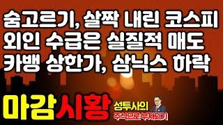 마감시황] 8/6 시장 숨고르기, 살짝 내려앉은 코스피…