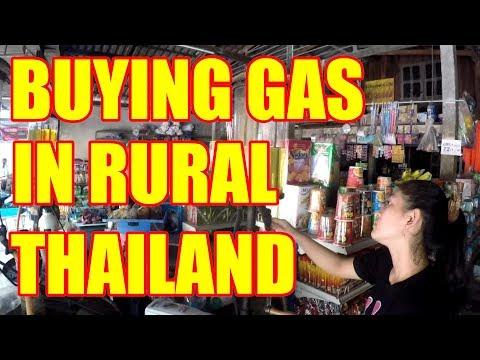 BUYING GAS IN RURAL THAILAND V297