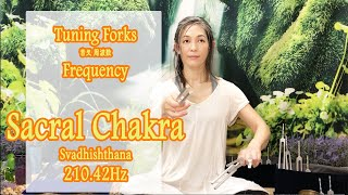 Sacral Chakra - Tuning Forks Frequencies -210.42Hz