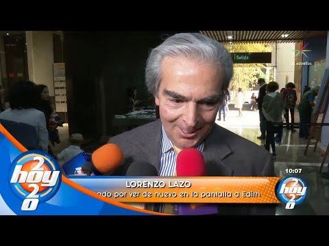Lorenzo Lazo se siente emocionado de ver a Edith González una vez más en pantalla | Hoy