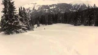 Danny skiing powder snow above Klosters Thumbnail