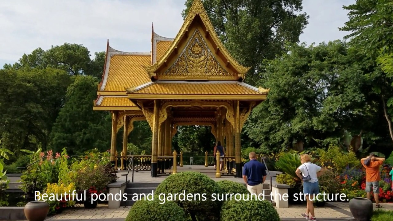 Thai Golden Pavilion at Olbrich Botanical Garden, Madison, Wisconsin ...