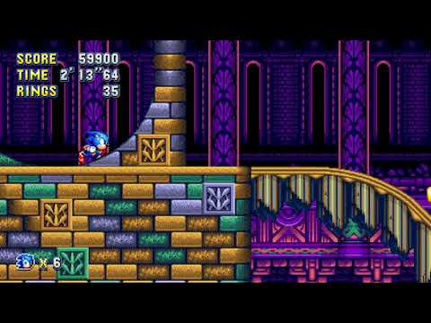 Sonic Mania PC - Screen Offset Value Found - Hydrocity Act 1