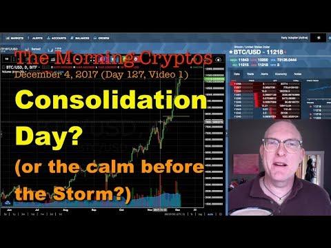 Crypto Consolidation Day? plus BAT, SALT, QTUM...MorningCryptos 127