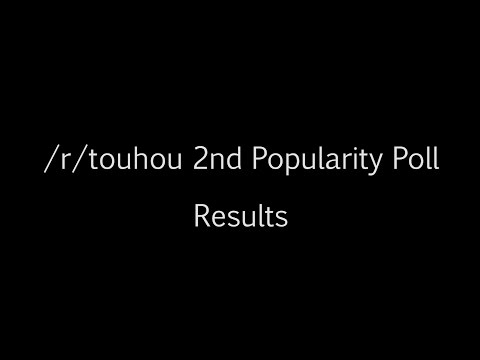 /r/touhou 2nd Popularity Poll : Results