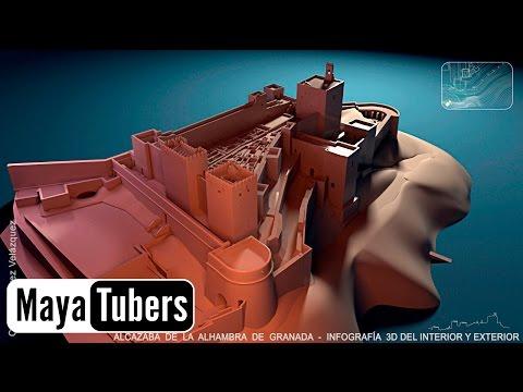 Alcazaba de la Alhambra de Granada, Maqueta Virtual, Infografía 3D