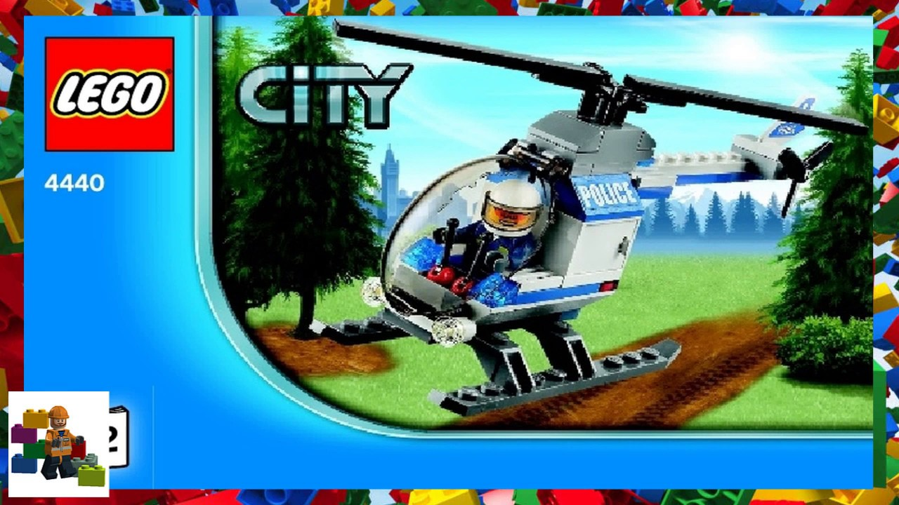 Lego Instructions City Forest Police 4440 Forest Police