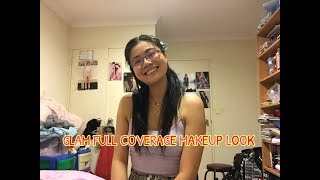 GLAM FULL COVERAGE MAKEUP LOOK| Sheree Chinn