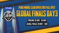 [Hindi] PMCO Global Finals Day 3 | Vivo | Fall Split | PUBG MOBILE CLUB OPEN 2019