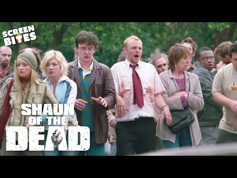 Shaun Of The Dead - Acting Like Zombies. Simon Pegg, Nick Frost, Edgar Wright