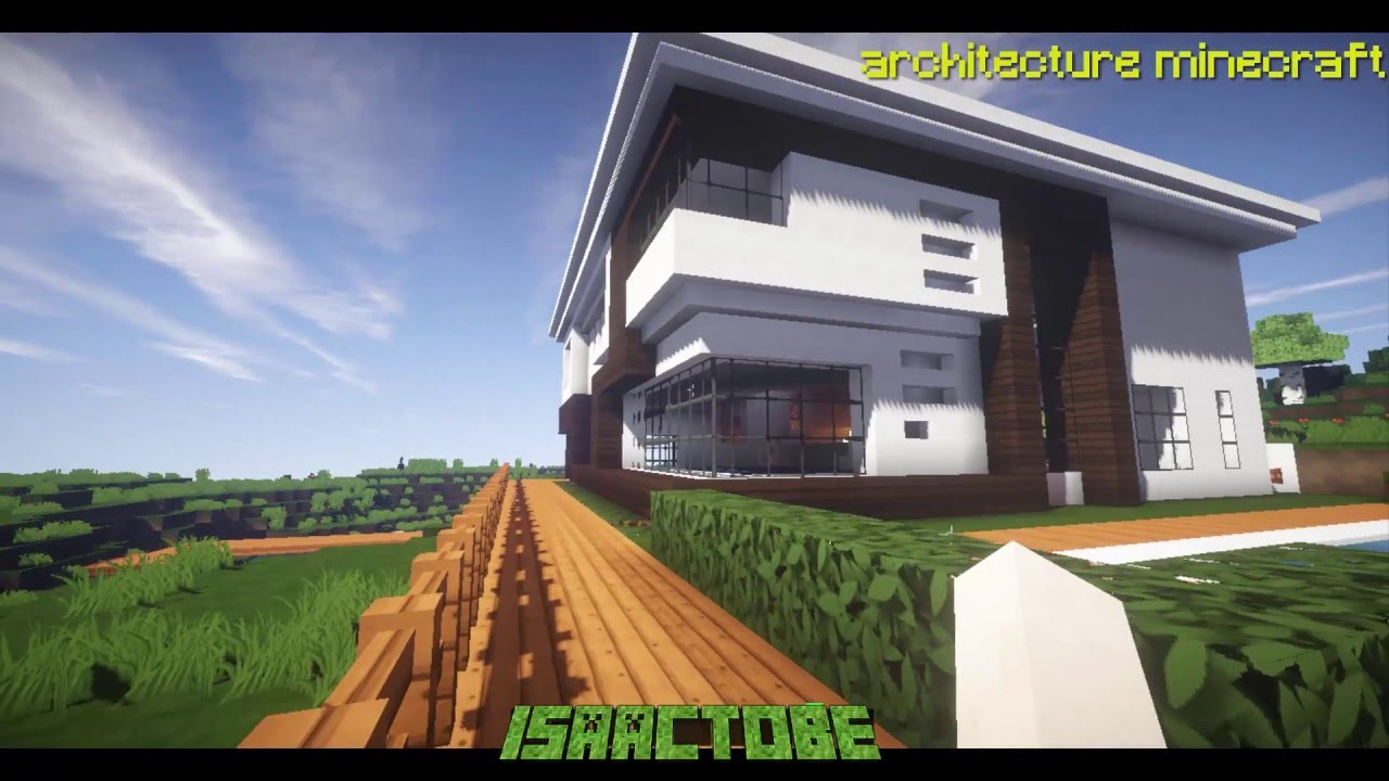 Casa moderna en minecraft 2016 renderizado hd youtube for Casa moderna 2016