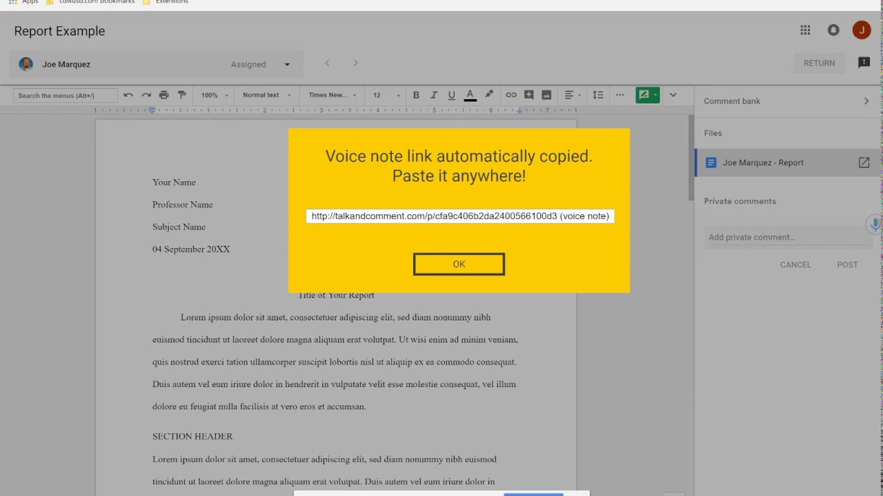 "Enhance Google Classroom with the ""Talk and Comment"" Chrome Extension"