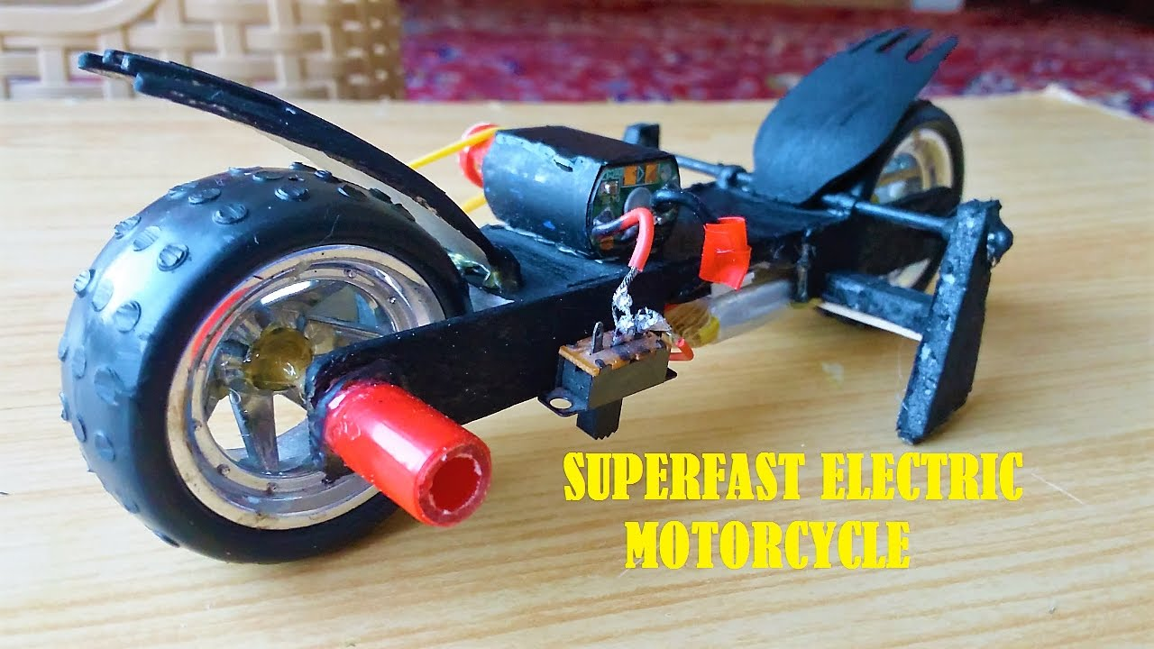How To Make A Mini Electric Motorcycle Superfast Racing Motor Bike You