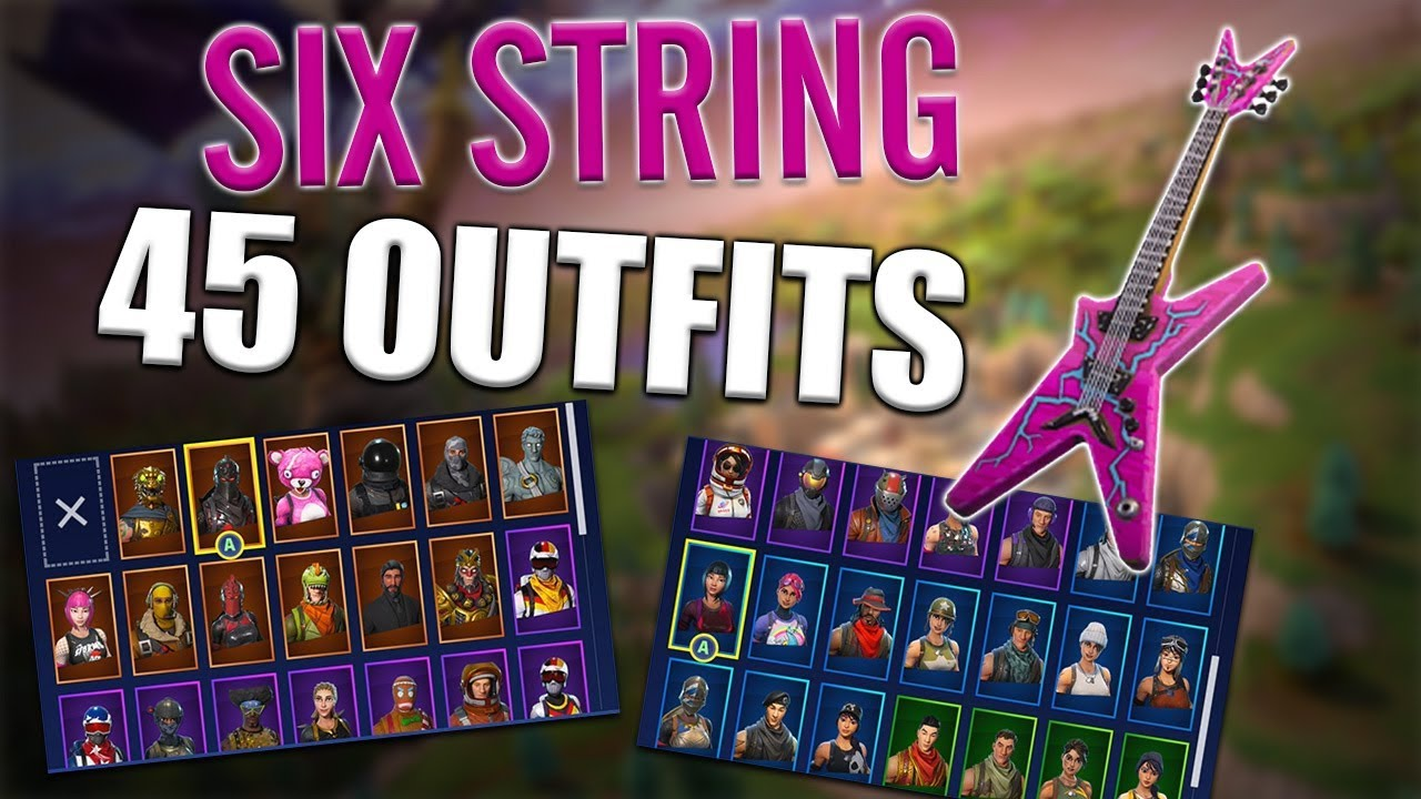 Fortnite Power Cord : Six string back bling on outfits power chord