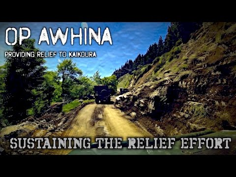 OP AWHINA - Sustaining the Relief Effort