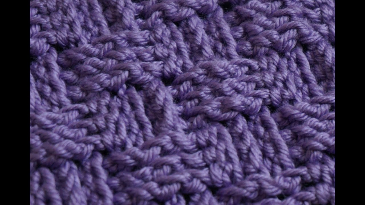 How To Make A Basket Weave Crochet Stitch : Basket weave crochet stitch part
