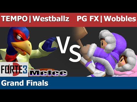 Forte 3 Melee - TEMPO | Westballz (Falco) vs PG FX | Wobbles (ICs) - Grand Finals