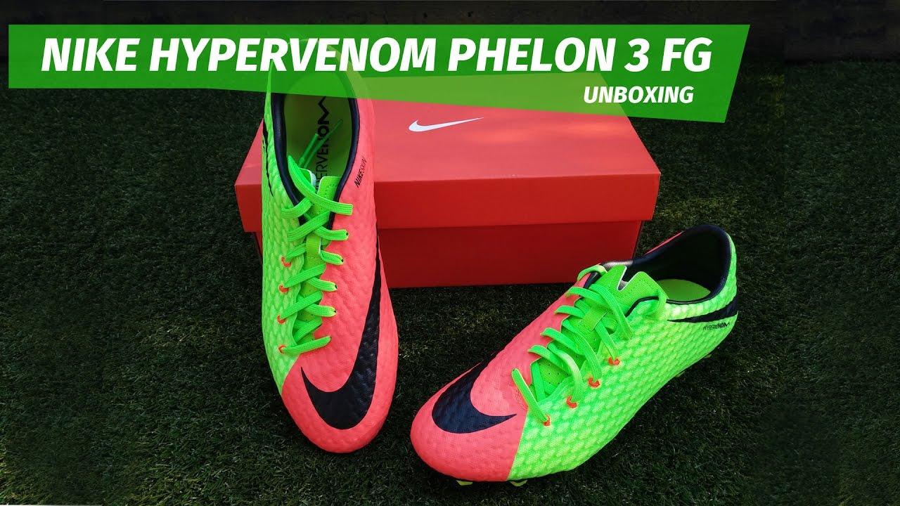 6c386deaae3f Nike Hypervenom Phelon 3 FG - unboxing - YouTube