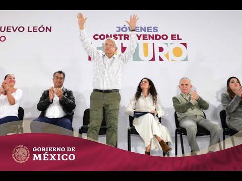 #JóvenesConstruyendoElFuturo y Programas para el Bienestar en la Macroplaza de Monterrey, Nuevo León