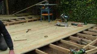 Decking Construction At Wylam ( Near Newcastle )