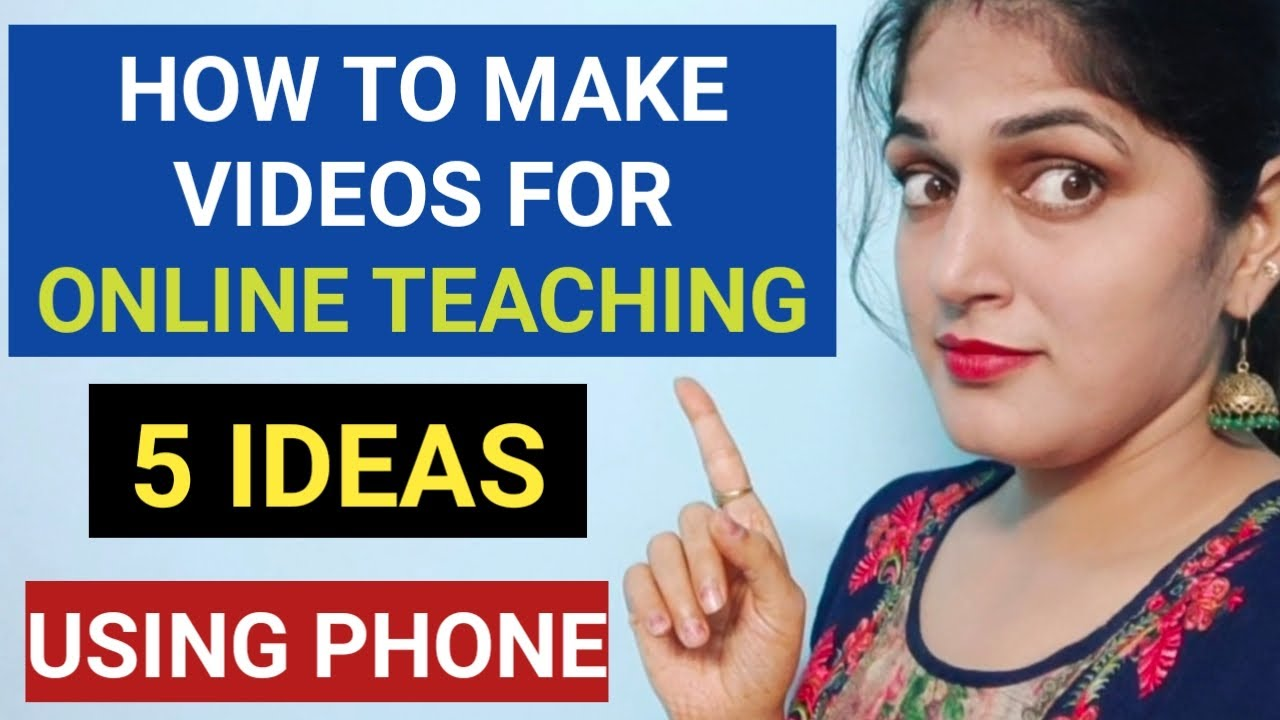 5 ideas to make education videos || पढ़ाई वाले video कैसे बनाएं? || How to teach online
